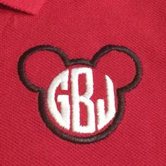 Inexpensive and adorable! For babies and big kids, even adults! Perfect shirt to wear to Disney. Embroidered Mickey Mouse inspired golf shirt boys appliqué by BirdieJamesEandS
