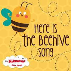 "Let's count with ""Here is the Beehive, but where are the Bees"" fingerplay for toddlers.  #toddlers #kidsong"