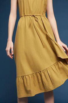 34N 118W Flounced Silk Dress