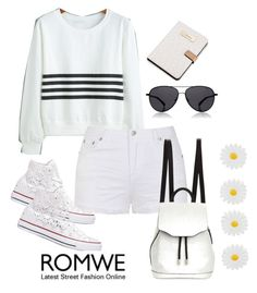"""Sweatshirt Romwe"" by woman-1979 ❤ liked on Polyvore featuring Ally Fashion, Converse, rag & bone, The Row, Calvin Klein and Monsoon"