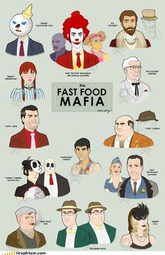hehee fast food mafia. i like their slightly sinister appearance