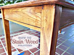 DIY Budget Girl: How to Stain Wood Furniture.