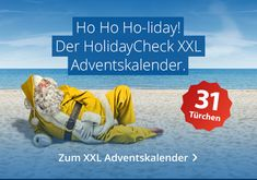 Der HolidayCheck XXL Adventskalender - 31 Tage lang tolle Urlaubspreise gewinnen! #adventskalender #gewinnspiel