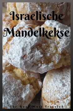 Mandelkekse aus Israel Almond biscuits are an Israeli dessert. These consist principally of homemade marzipan, which is baked. For tasty mouths the right thing! Apple biscuits recipe & the nOatmeal biscuits without foodCookies biscuits like Sub Easy Cookie Recipes, Diet Recipes, Cake Recipes, Snack Recipes, Dessert Recipes, Snacks, Greek Recipes, Easy Desserts, Healthy Recipes