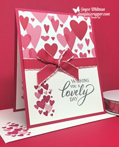 Forever Lovely Stamp Set and All My Love Designer Series Paper by Stampin' Up! Valentine Love Cards, Valentines Greetings, Valentine Theme, Mothers Day Cards, Paper Hearts, Creative Cards, Anniversary Cards, Homemade Cards, Stampin Up Cards