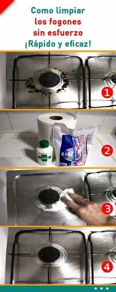 Como limpiar los fogones sin esfuerzo. ¡Rápido y eficaz! #fogones #limpieza #hogar #consejos #trucos