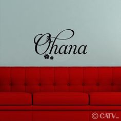 Wall decal Ohana FAMILY vinyl lettering quote wall saying sticker home decor idea by VinylLettering