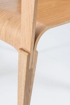 La chaise en bois par Julia Wilman - chaise en bois, mobilier design, design furniture, sans clou, projet diplôme étudiante polonaise en design #design #mobilier