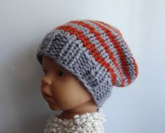 Newborn Hipster Hat Baby Fall Winter Hat Sacking by IfonBabyLand, $15.00