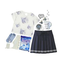 URSTYLE offers you a new creative home and the best alternative for Polyfam! No Show Socks, Cat Shirts, Rihanna, Blue Stripes, Ankle Strap, Skater Skirt, Fashion Looks, Skirts, Shopping