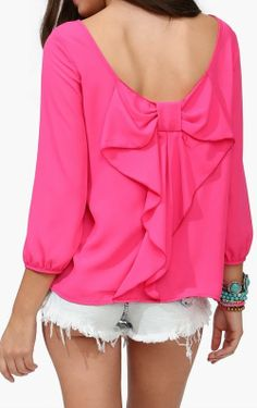 Bow back blouse | pink