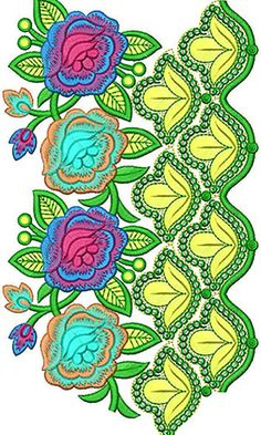 Now you can enjoy our Premium Range Embroidery Designs of Lace