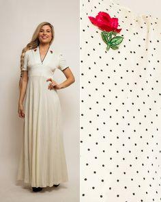 Hippie BOHO robe  Vintage des années 70 est des années 40 à
