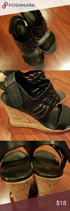 Charles David velcro wedge heels size 6 Gently used 2 little marks otherwise great Charles David Shoes Wedges