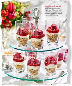 Berry brunch parfait. Clipped from Better Homes and Gardens using Netpage.