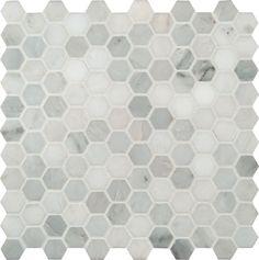 "Arabescato Carrara 1"" Hexagon | Honed"