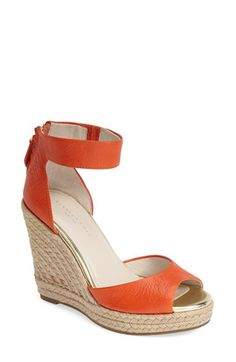 Kenneth Cole New York 'Holly' Wedge Sandal (Women) available at #Nordstrom nude