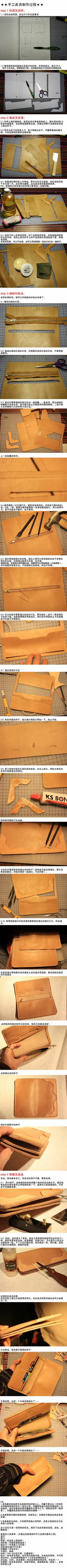 no Idea what it says but the pictures are helpful - Ultra-detailed leather wallet making tutorial