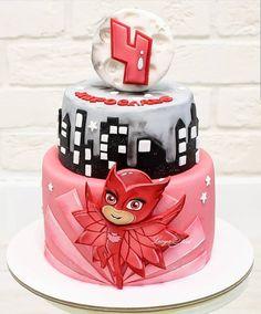 Cake Pj Masks Birthday Cake, Birthday Cake Girls, Birthday Cookies, Baby Birthday, Second Birthday Ideas, Little Girl Birthday, Pj Mask Cupcakes, Pj Masks Cakes, Torta Pj Mask