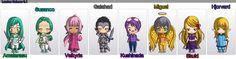 Personagens feitos no Chibimaker sobre uma historinha que estou fazendo =3 Lumina Seinaru 0.1
