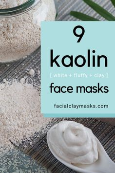 Kaolin clay masks are my favorite, they are gentle on the skin, so they work well for all skin types but the perfect clay to pair with anti aging ingredients! Clay Face Mask, Clay Masks, Face Masks, Mask For Dry Skin, Moisturizer For Dry Skin, Facial Skin Care, Natural Skin Care, Natural Beauty, Homemade Beauty