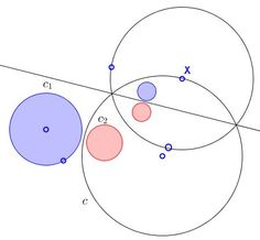 Invert Two Circles Into Equal Ones: an extra argument why inversion is refrred to as 'reflection in circle' Circle Theorems, Geometry Pattern, Cryptozoology, Sacred Geometry, Botany, Maths, Fractals, Equality, Circles