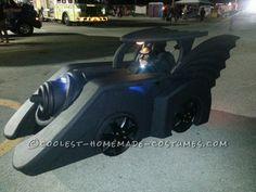 Holy Batman! Its the Batmobile Wheelchair Costume... Halloween Homemade Costume Contest