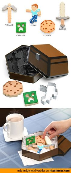 Galletas Minecraft.