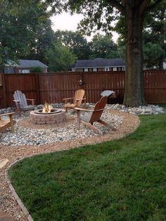 Fire Pit Landscaping, Backyard Garden Landscape, Big Backyard, Small Backyard Design, Backyard Patio Designs, Small Backyard Landscaping, Fire Pit Backyard, Landscaping Design, Garden Design