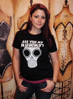 The Empty Child, (Are you my Mummy). Women's fitted American Apparel LARGE. $19.95, via Etsy.