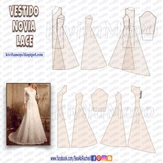 Formal Dress Patterns, Wedding Dress Patterns, Dress Sewing Patterns, Clothing Patterns, Embroidery Patterns, Diy Clothes Videos, Gown Pattern, Make Your Own Clothes, Comfy Dresses