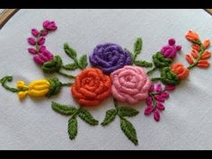 Hand Embroidery - Brazilian Embroidery - Bullion Knot Rose Embroidery - YouTube