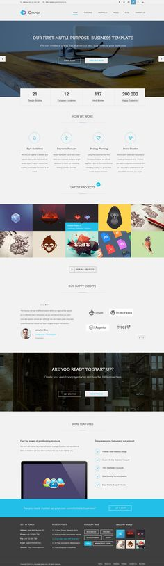 Craper Multi-Purpose PSD template is based on a 1170px grid system and ready for bootstrap.