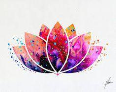 Lotus Flower Yoga Symbol Watercolor Illustrations Art Print Poster Handmade Wall Decor Art Home Decor Wall Hanging aum om Item 159 Lotus Flower Yoga symbole aquarelle Illustrations par PainterlyDots Art And Illustration, Watercolor Illustration, Flower Illustrations, Landscape Illustration, Yoga Symbole, Yoga Kunst, Plant Drawing, Lotus Drawing, Yoga Drawing