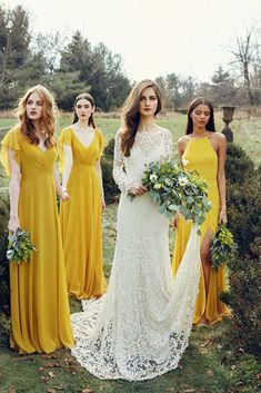 07dfa61f25 18 Yellow Bridesmaid Dresses For Bright Celebration