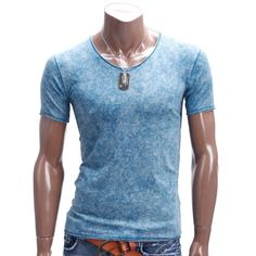 Wadulifashions — Doublju Mens Casual Marble Pattern T-Shirts