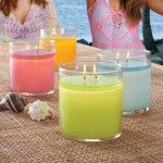 Duftwachsglas GloLite by PartyLite™ Guava Caipirinha Pillar Candles, Candle Jars, Partylite, Summer Scent, Glass Of Milk, Fragrance, 2016 Winter, Summer 2016, Food