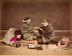 Japanese palm reader 1870