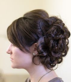 Bridal updo short hair extensions
