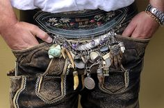 Next burning man accessory? Charms - part of the traditional Bavarian dress.   Repinned by www.mygrowingtraditions.com