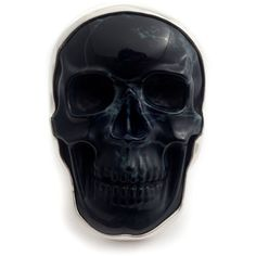 CARVED ROCK SKULL Ring ❤ liked on Polyvore featuring jewelry, rings, skull rings, skull jewellery, skull head ring, rock jewelry and rock rings