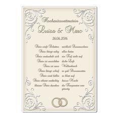 Wetterstein zur Hochzeit - Blechschild A4