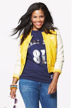 Slay your game day look in a varsity jacket and sporty tee.    - Seventeen.com