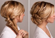 DIY a fishtail bun braid with this tutorial.