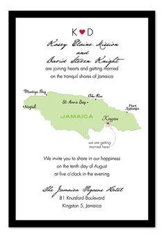 Love in Jamaica - Wedding Invitations by Invitation Consultants. (IC-RLP-W46 )
