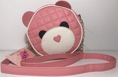LUV BETSEY JOHNSON Bear LOISE Cross Body Bag Coral-Pink Shoulder Purse | eBay