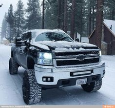 Chevy in the snow