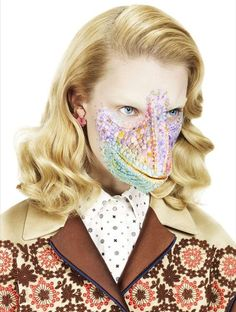 An Eccentric Masked Editorial for Interview Germany March 2012 #costume #editorial trendhunter.com