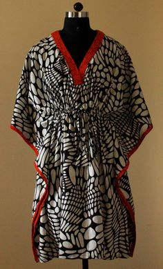 Hospital gown / Delivery gown / Kaftan for Nursing - Polka and red, short kaftan robe, caftan, maternity, nursing, hospital robe, spa robe, $34.00