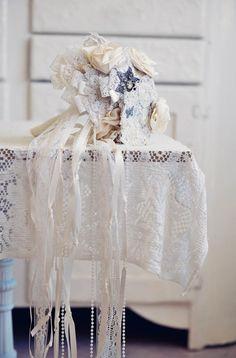 Vintage style lace bouquet